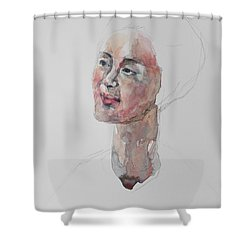Wc Mini Portrait 9             Shower Curtain by Becky Kim