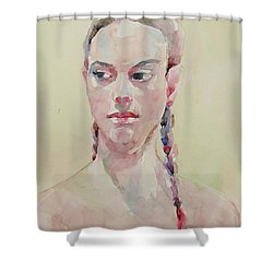 Wc Portrait 1619 Shower Curtain by Becky Kim