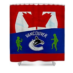 We Are All Canucks Shower Curtain