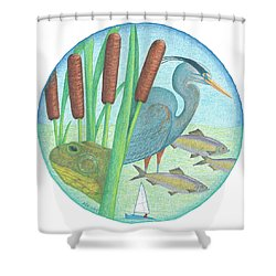 We Are All Connected Shower Curtain