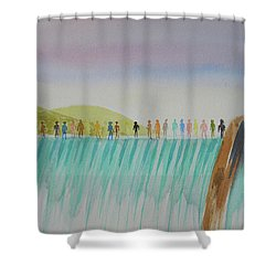 We Are All The Same 1.1 Shower Curtain by Tim Mullaney