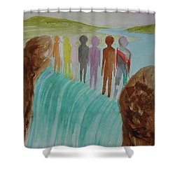 We Are All The Same 1.2 Shower Curtain by Tim Mullaney