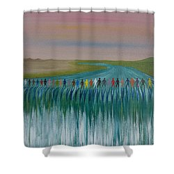 We Are All The Same 1.3 Shower Curtain by Tim Mullaney