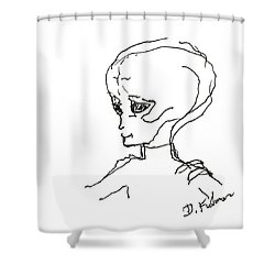 We Are Not Alone Shower Curtain