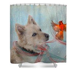 We Can All Get Along Shower Curtain by Colleen Taylor