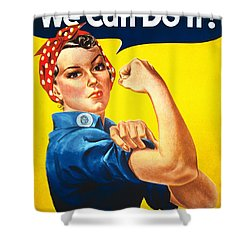 We Can Do It Rosie The Riveter Poster Shower Curtain