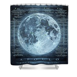 We Choose To Go To The Moon Shower Curtain
