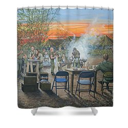 We Did It First Forrest Shower Curtain