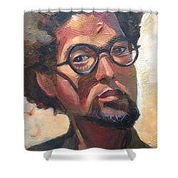 Shower Curtain featuring the painting We Dream by JaeMe Bereal