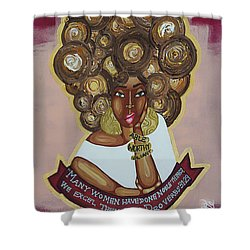 We Excel Them All Shower Curtain