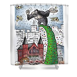King Kong Kristmas Shower Curtain