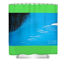 Shower Curtain featuring the photograph We Got The Blues - Winter In Switzerland by Susanne Van Hulst