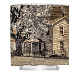 We Had Cows In The Yard Shower Curtain by William Fields