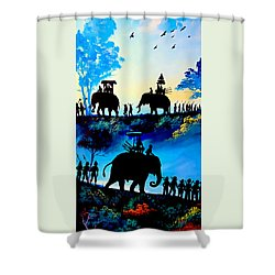 We March At Sunrise  Shower Curtain
