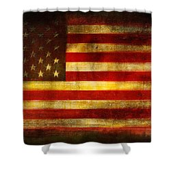 We The People Shower Curtain by Brett Pfister