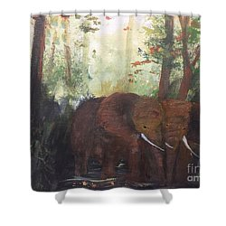 We Two Shower Curtain by Trilby Cole