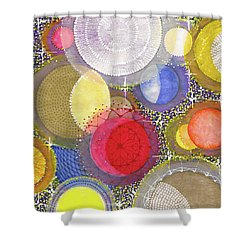 Shower Curtain featuring the painting We Will Have Many Moons #2 by Kym Nicolas