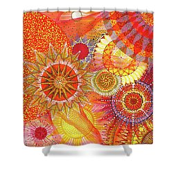 Shower Curtain featuring the painting We Will Have Many Suns #2 by Kym Nicolas