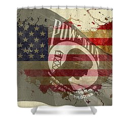 We Will Remember You Shower Curtain