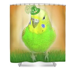 Shower Curtain featuring the digital art Wearin' Of The Green by Jean Pacheco Ravinski