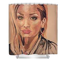 Weaselwise Shower Curtain