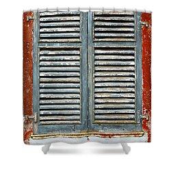 Weather-beaten Window Shower Curtain by Gaspar Avila