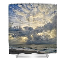 Weather Over Topsail Beach 2977 Shower Curtain