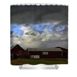 Weather Threatening The Farm Shower Curtain