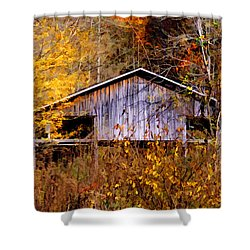 Weathered Barn 1 Shower Curtain