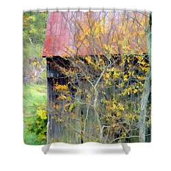 Weathered Barn 2 Shower Curtain