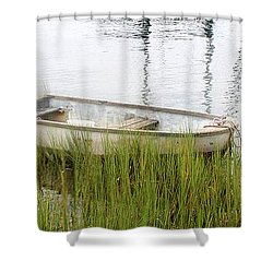 Weathered Old Skiff - The Outer Banks Of North Carolina Shower Curtain