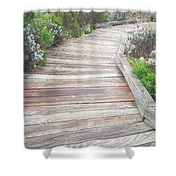 Weathered Path Shower Curtain by Russell Keating