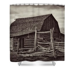 Weathered Peaks Shower Curtain by Lana Trussell