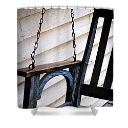 Weathered Porch Swing Shower Curtain