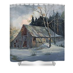 Weathered Sunrise Shower Curtain by Michael Humphries