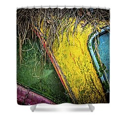 Weathered Vehicle Shower Curtain