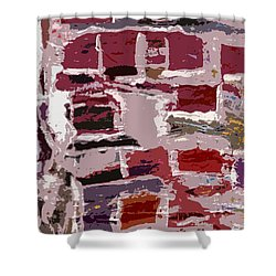 Shower Curtain featuring the painting Weathered Wall by Rita Brown