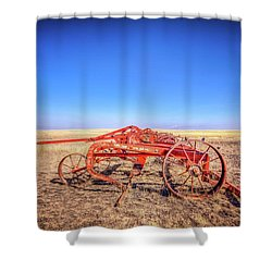 Weathered Wheels Shower Curtain