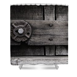 Weathered Wood And Metal Four Shower Curtain by Kandy Hurley