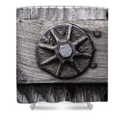 Weathered Wood And Metal One Shower Curtain by Kandy Hurley