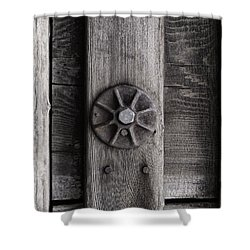 Weathered Wood And Metal Three Shower Curtain by Kandy Hurley