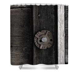 Weathered Wood And Metal Two Shower Curtain by Kandy Hurley
