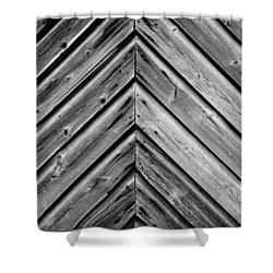 Shower Curtain featuring the photograph Weathered Wood by Larry Carr