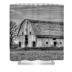 Weathered Wood Of Iowa Shower Curtain