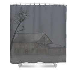 Weathering The Blizzard Shower Curtain