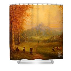 Weathertop Shower Curtain by Joe  Gilronan