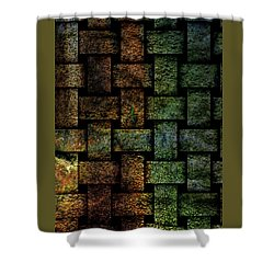 Weave A Might Stone Shower Curtain
