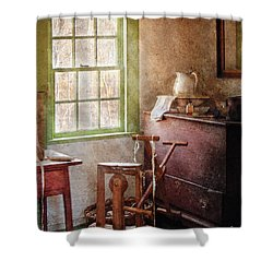 Weaving - In The Weavers Cottage Shower Curtain by Mike Savad
