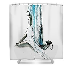 Web - Aerial Dancer Shower Curtain