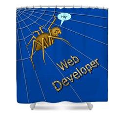 Web Developer Shower Curtain